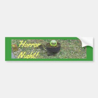 Abóbora feliz do Dia das Bruxas do verde da noite  Adesivo Para Carro