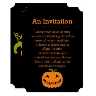 Abóbora personalizada do Dia das Bruxas Convite 12.7 X 17.78cm