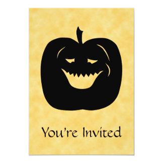 Abóbora, preto e laranja do Dia das Bruxas Convite 12.7 X 17.78cm
