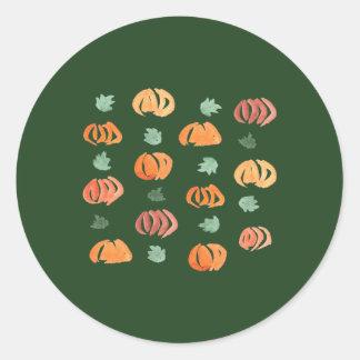 Abóboras com etiqueta redonda lustrosa pequena das