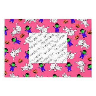 Abóboras cor-de-rosa bonitos da mamã de foto artes