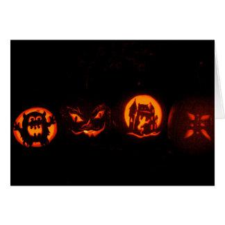 Abóboras do Dia das Bruxas da doçura ou travessura Cartão Comemorativo