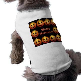 Abóboras felizes do Dia das Bruxas da roupa do cão Camisa Sem Mangas Para Cachorro