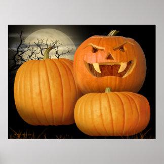 Abóboras & Jack-o-Lanterna do Dia das Bruxas Impressão