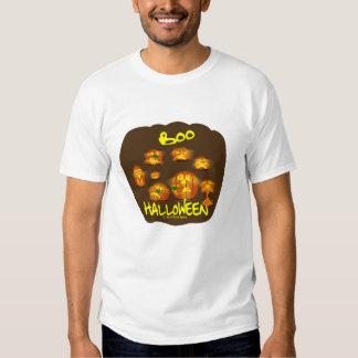 Abóboras no patamar (com fundo marrom) t-shirts