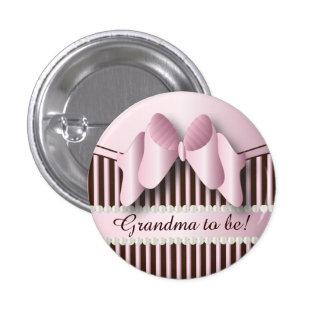 Abotoe o rosa Pin elegante e o design listrado Botons