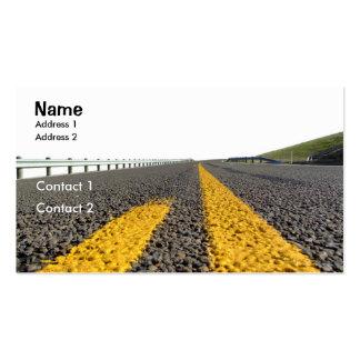 Abra a estrada cartão de visita