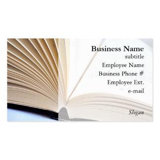 Abra cartões de visitas do livro