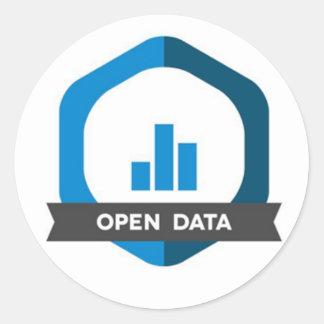 Abra o crachá da etiqueta dos dados