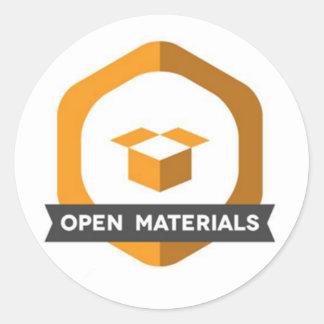 Abra o crachá da etiqueta dos materiais