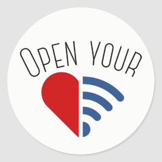 Abra o seu {WiFi, o coração} Adesivo