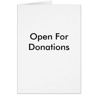 Abra para o cartão das doações