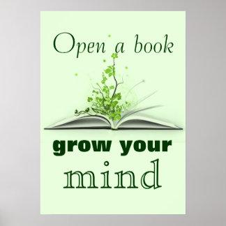Abra um poster do livro pôster
