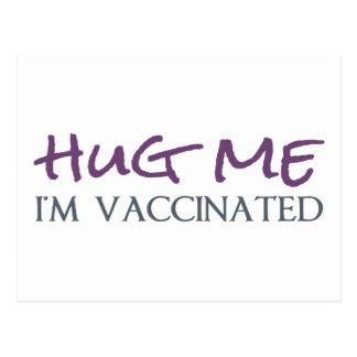 Abrace-me mim são vacinados cartão postal
