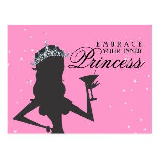 Abrace sua princesa interna Engraçado Cartão