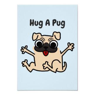 Abrace um cartão do cão do Pug