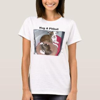 Abrace um t-shirt de Pitbull Camiseta
