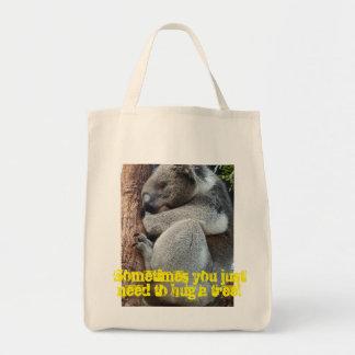 Abrace uma árvore bolsa tote