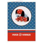 Abraços & beijos. Cartões feitos sob encomenda do