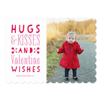 Abraços & cartão com fotos do dia dos namorados de convite 12.7 x 17.78cm