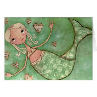Abraços da sereia - cartão