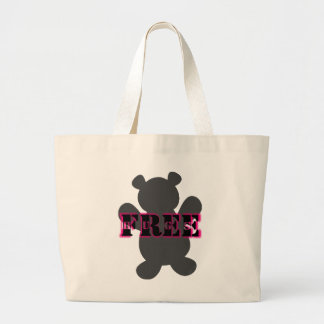 Abraços de urso livres sacola tote jumbo