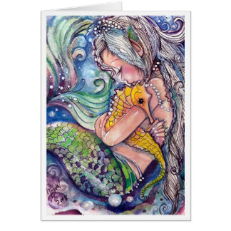 Abraços do cavalo marinho cartão comemorativo