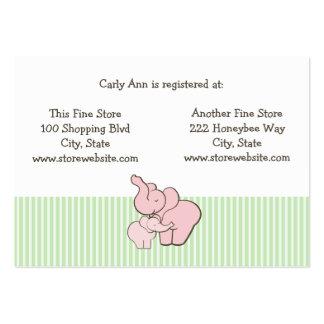 Abraços do elefante cor-de-rosa do cartão do cartão de visita grande