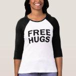 Abraços livres 3/4 de T do Raglan - mulheres T-shirts