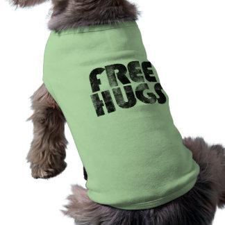 Abraços livres camisa sem mangas para cachorro