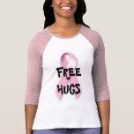 Abraços livres para o cancro da mama t-shirt