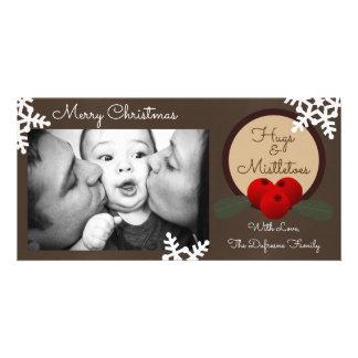 Abraços & Natal dos viscos Cartão Com Foto