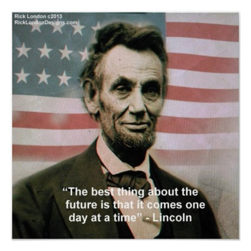 """Abraham Lincoln """"1 etapa de poster de cada vez"""""""