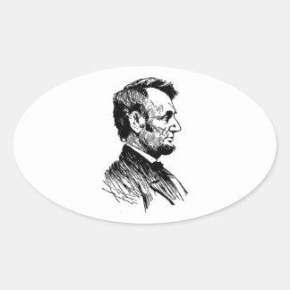 Abraham Lincoln Adesivo Oval
