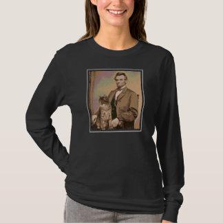 "Abraham Lincoln e ""Dixie"" seu gato Camiseta"