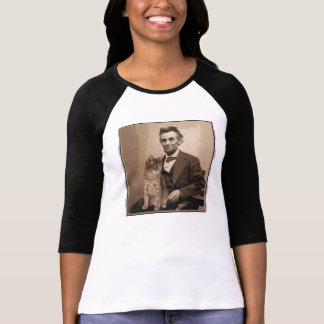 "Abraham Lincoln e seu gato ""Dixie "" Camiseta"