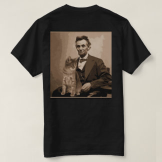 "Abraham Lincoln e seu gato ""Dixie"". Camiseta"