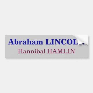 Abraham Lincoln, Hannibal Hamlin Adesivo Para Carro