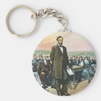 Abraham Lincoln relata o endereço Vin de Gettysbur Chaveiro
