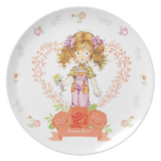 Abricó da placa #2 da porcelana de Sarah Kay Fleur Prato De Festa