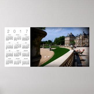 Abril no poster 2017 do calendário de Paris 30 Pôster