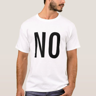 absolutamente não camiseta