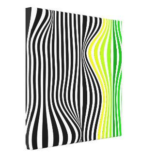 Abstracção geométrica impressão de canvas envolvidas