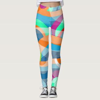 Abstracção marinha leggings