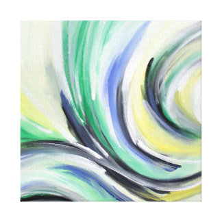 abstractamente, bamboleado pintura impressão em canvas
