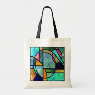 Abstrato 1 do vitral bolsa tote