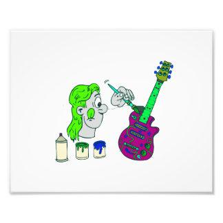 abstrato 2.png colorido da guitarra da pintura impressão de foto