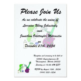 abstrato 2.png colorido da guitarra da pintura convites personalizado