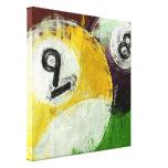 Abstrato 8 e bola 9 impressão em tela canvas