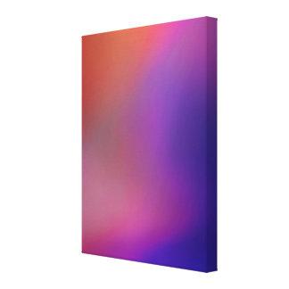 Abstrato alaranjado cor-de-rosa magenta roxo & do  impressão em tela canvas